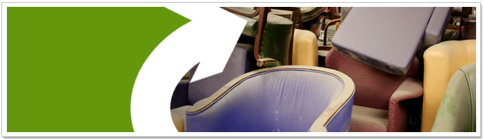 Furniture can be recycled or re-used!