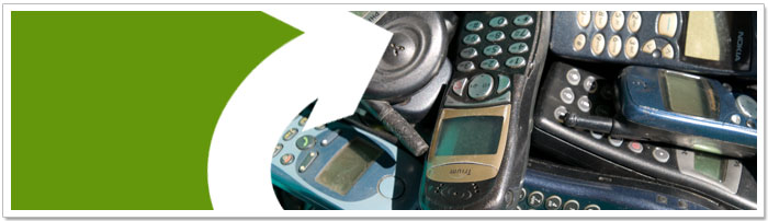 Old mobile phones ready to be recycled